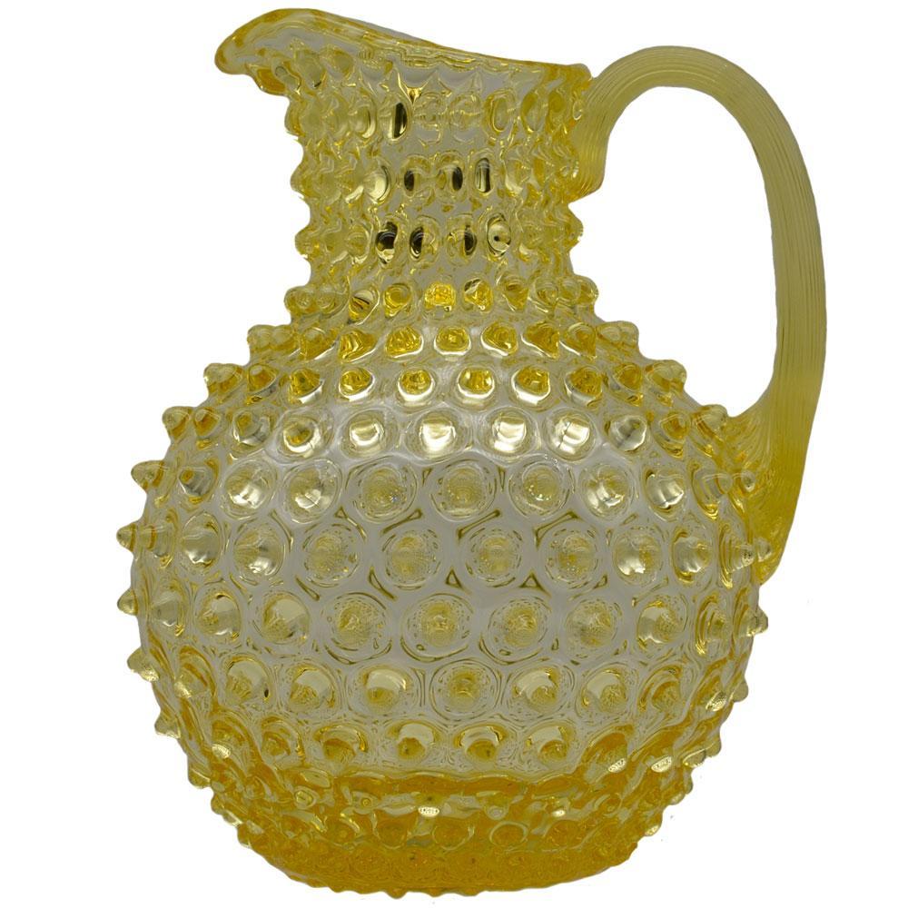 Wasserkrug Nuppenglas mit Henkel - Citrineglas