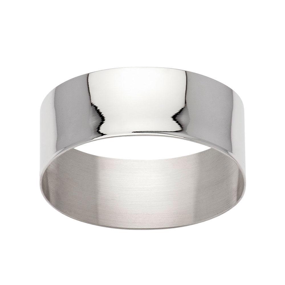 925 sterling silver oval plain napkin ring