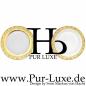 "Preview: Presentation plate ""PUR LUXE"" Gold-Sateen"
