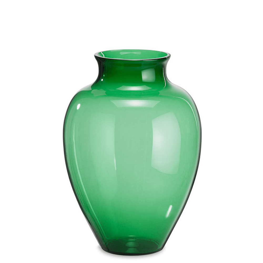 Loght blue glass belly vase by Sven Markus von Hacht