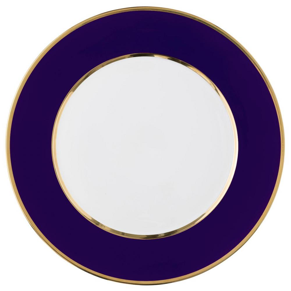 "Service plate ""Multicolore with gold"""
