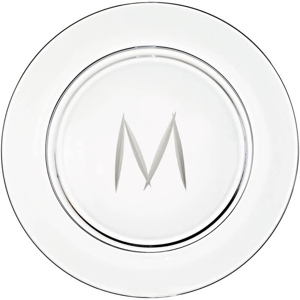 "Presentation plate ""M"" monogram 