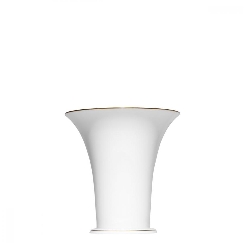 """Chalice vase"" with a narrow gold rim"