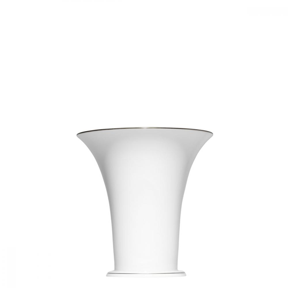 """Chalice vase"" with a narrow platinum rim"