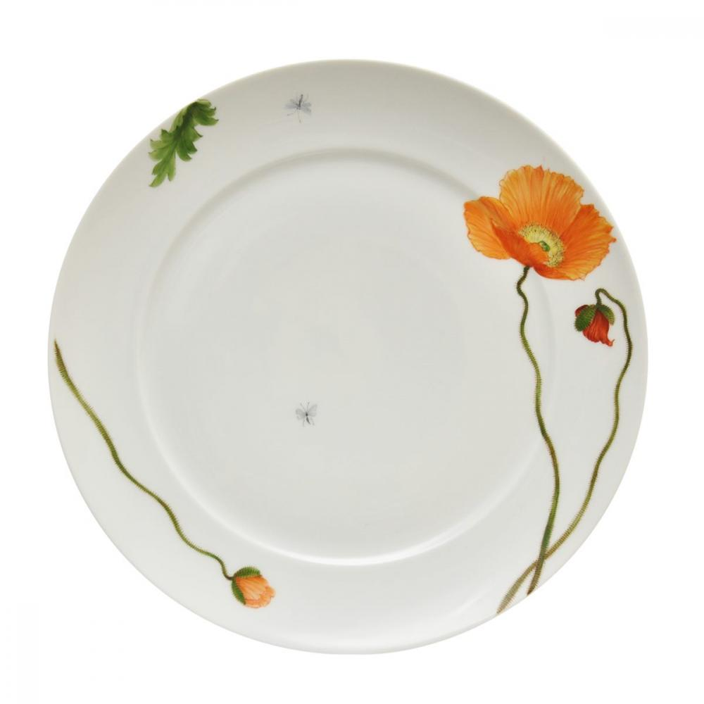 Dinner plates with the Ludwigsburger Poppy