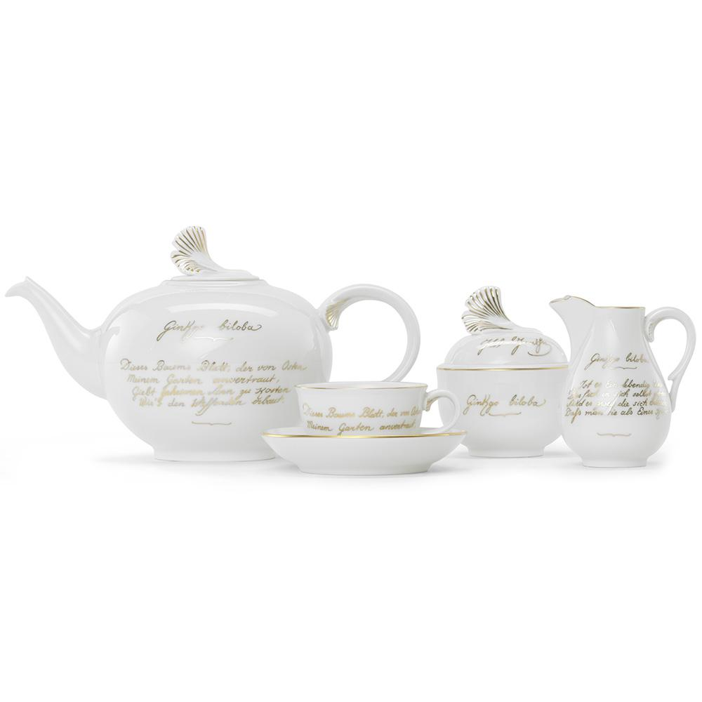 """The golden ginkgo"" Tea service for 18 people"
