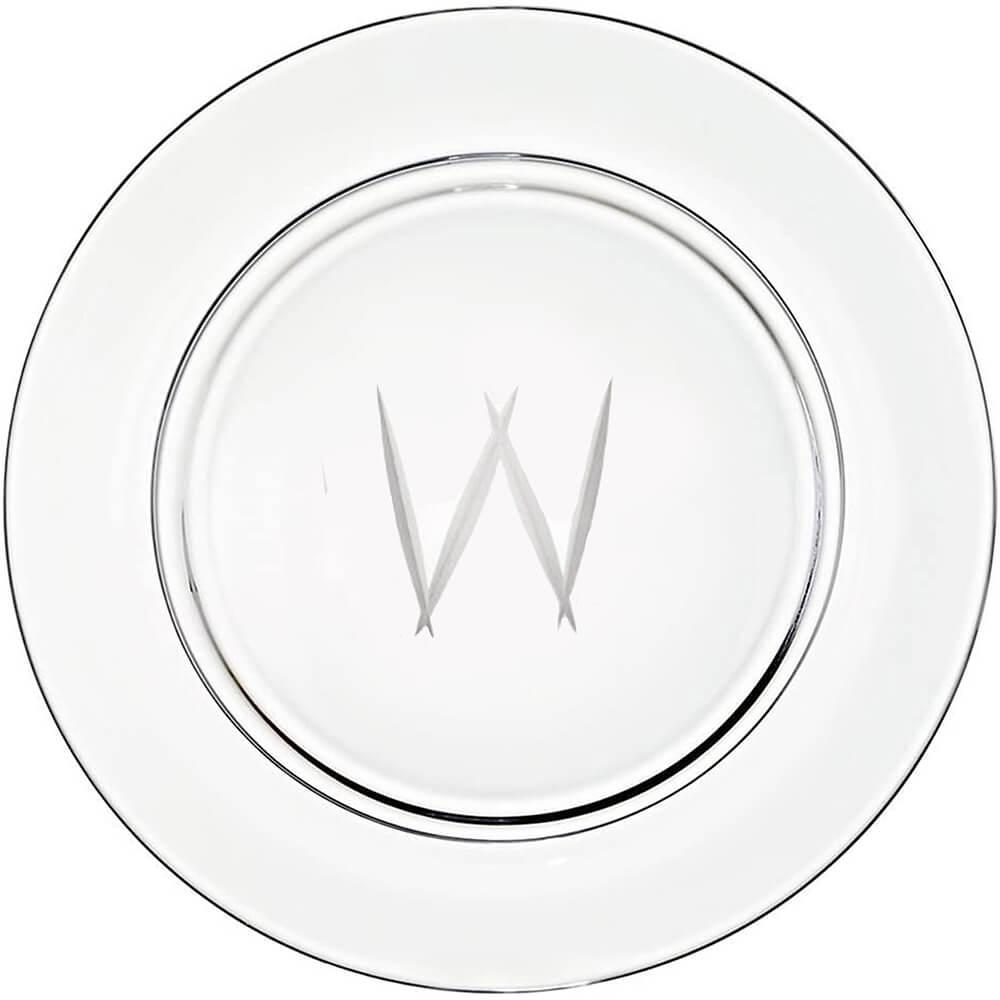 "Presentation plate ""W"" monogram 