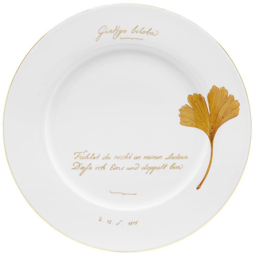 "Place plate ""The golden ginkgo"" Decor 1"