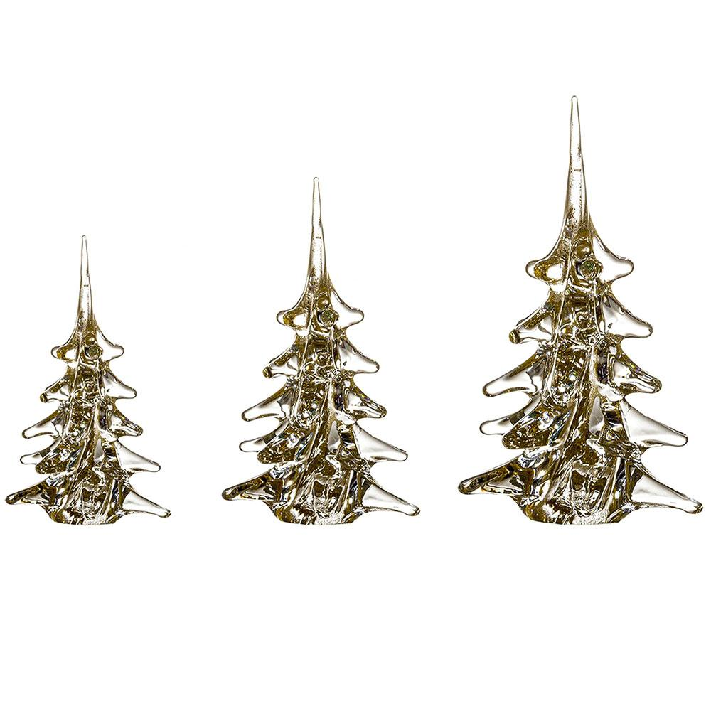 Christmas tree made of gold crystal glass ca. 30 cm