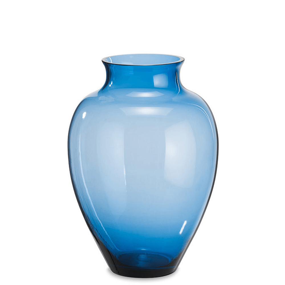 Loght blue glass GALA belly vase