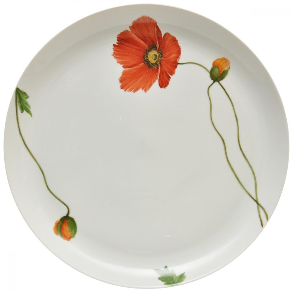 Presentation plates with the Ludwigsburger Poppy